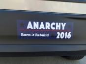 """Anarchy 2016"" - Bumper sticker!!"